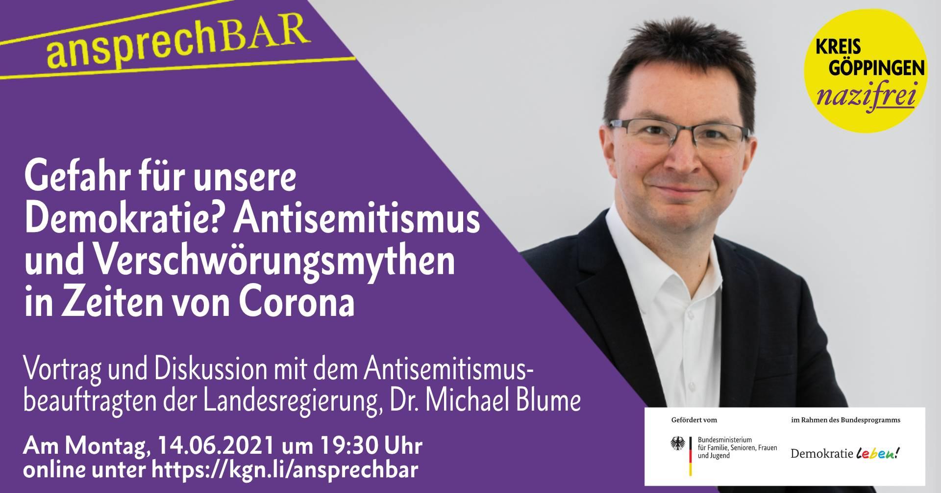 ansprechbar: Gefahr für unser Demokratie? Antisemitismus und Verschwörungsmythen in Zeiten von Corona